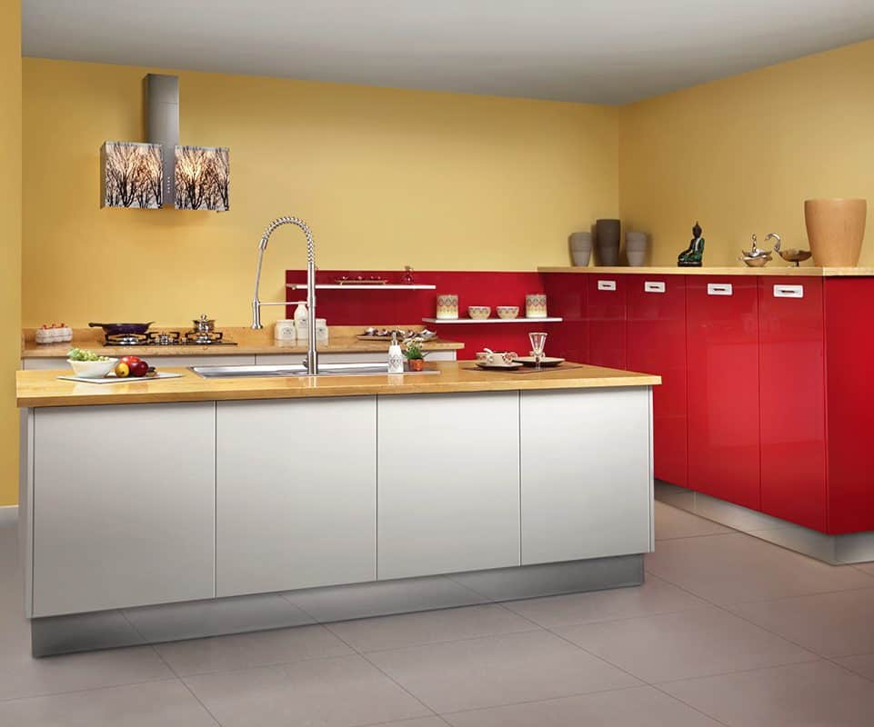 Free Wall PU Finished Kitchen