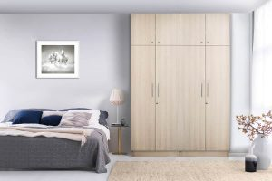 Straight Line Hinged Wardrobe With Loft