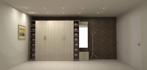 Hinged Wardrobe With Dressing Unit