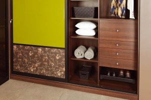 Warm Nature Inspired Sliding Wardrobes