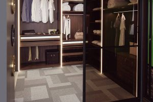 L-Shape Walk-In Wardrobe
